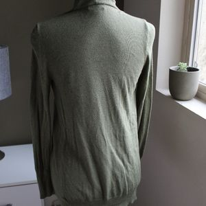 Merona Sweaters - Olive Green Open Front Cardigan